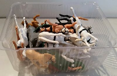 Lot of  1/32 Scale Timpo Horses for spares and repairs