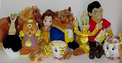 Disney Store Beauty And The Beast Plush Set of 9 - Belle Beast Gaston  + More