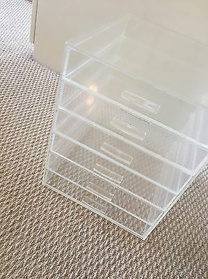 6 Drawer tier Makeup Acrylic Organiser Case Cosmetics stand Storage clear
