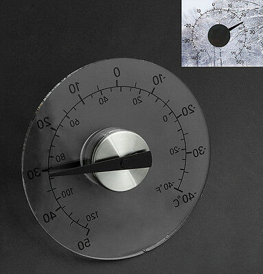 Clear Circular Outdoor Window Temperature Thermometer Weather Tool