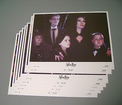 MOVIE POSTER LOBBY CARD ADDAMS FAMILY 1991 ORION PICTURES LOT 7 LURCH USA 11x14