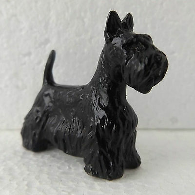 Scottish Terrier Scotty Mini Model Dog Breed Ornament Handpainted Sculpture