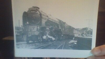 Black and White Postcard of the Yorkshire Pullman Steam Train
