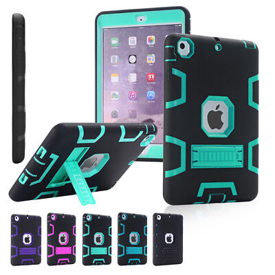 Shockproof Heavy Duty Rubber Tough Case Cover for Apple iPad 4 3 2 mini Air Pro