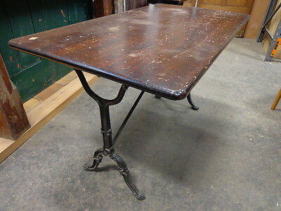 Pub Table With Cast Iron Legs