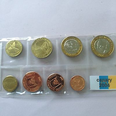Canary 2004 Pattern Prototype 8 Euro Coin Collection