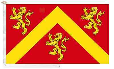 Anglesey Ynys Môn County Roped & Toggled 2 Yard Courtesy Boat Flag