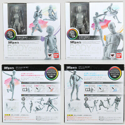 NIB S.H.Figuarts Bandai Body Kun Chan DX Set Gray Ver Action Figure Figuras Toys