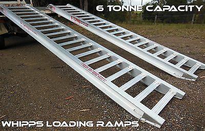 6 Tonne Capacity Machinery Loading Ramps 3.6 Metres X 450mm Track Width