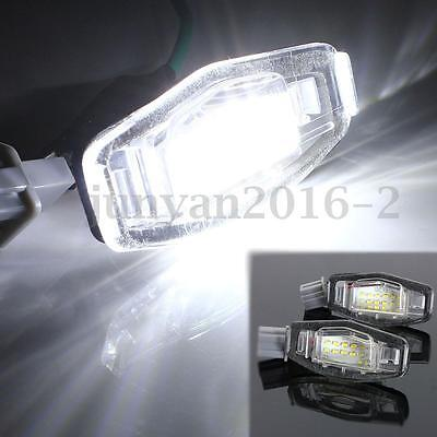 2x Canbus LED License Number Plate Light For Honda Accord Odyssey Civic Acura MD