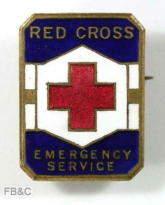 Red Cross Emergency Services Enamel Badge