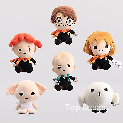 Harry Potter Harry Potter Hermione Draco Dobby Hedwig Ron Beans Plush Toy 8''