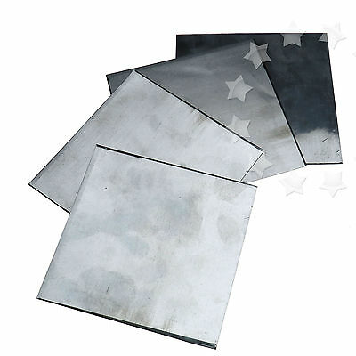 5Pcs Pure Zinc Zn Sheet Plate High Purity 99.99% For Science Lab 100x100x0.2mm