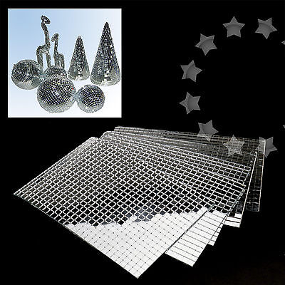 3000pcs Silver DIY Self-Adhesive Mirror Home Decor Mosaic Tiles Mirror Tiling