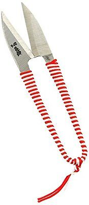 Kotobuki Traditional Japanese Thread Scissors, Red and White Wrapped Handle