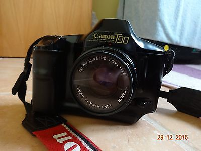 Canon T90 Camera. vintage slr with Canon lens