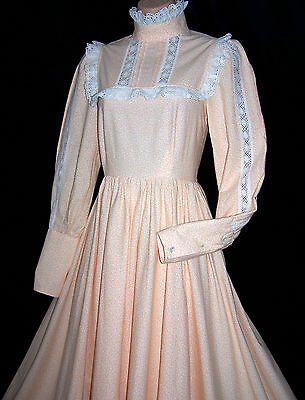 Laura Ashley vintage made in Carno Wales Victorian prairie style maxi dress, 12