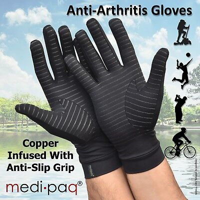 Medipaq® Anti ARTHRITIS COPPER Compression Therapy Gloves Hand Pain Grip