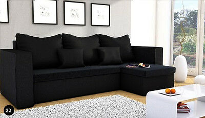 New MOJITO Corner Sofa Bed Best Quality Free Delivery BLACK COLOUR