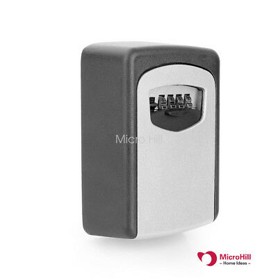 Share Key Arc-Shaped Box Storage 4 Digit Combination  Code Lock Security Outdoor