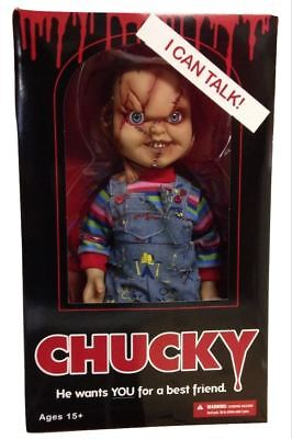 "Mezco - Chucky Doll - 15"" Scarred version with sound"