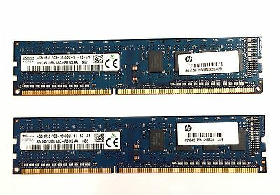 8GB (2x4GB) Hynix DDR3 PC12800U 1600Mhz 240-pin Tested RAM Desktop HMT451U6BFR8C