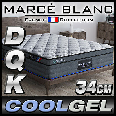 DOUBLE QUEEN KING Mattress - CoolGEL Memory Foam - 34cm - Pocket Spring EuroTop