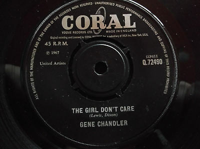 Gene Chandler - The Girl Dont Care/my Love - Coral Records