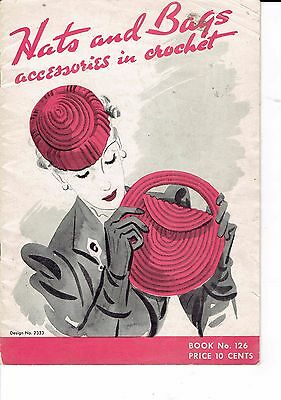 original  crochet patterns HATS and BAGS ACCESSORIES