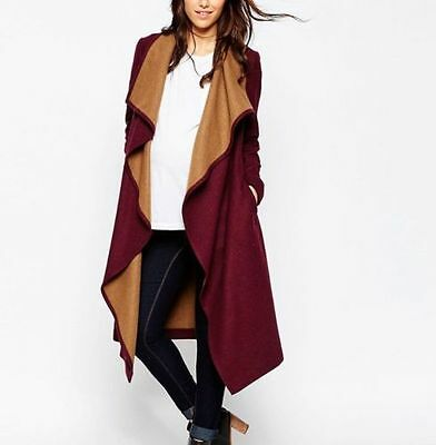 Asos Red Camel Maternity Coat Size 8 Waterfall