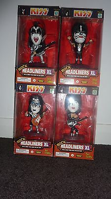 KISS Rock 4 Headliners XL Mint Condition Statues Figures Limited Edition Gene
