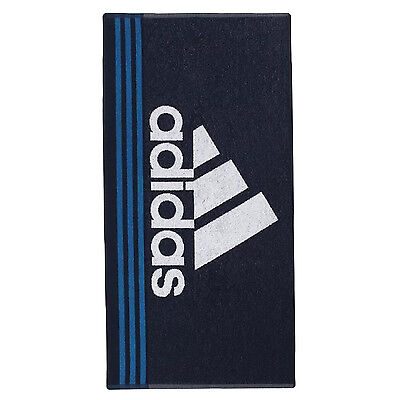 Adidas sports Gym, swim towel, holiday HAND Towel Spin running Blue Cotton BNWT