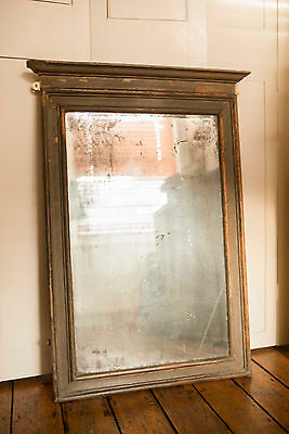 Beautiful large antique French shabby chic mirror with original glass