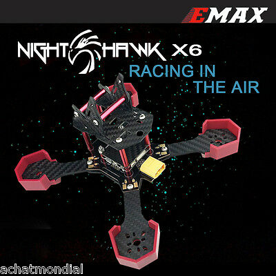 DIY Carbon Fiber Frame Kit for EMAX Nighthawk-X6 FPV RC Racing Drone Quadcopter