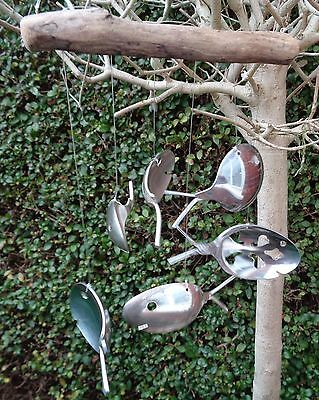 Spoon Fish Wind Chime Handcrafted Garden or Indoor Mobile  House Warming, Gift