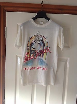 LIVE AID 1985 Wembley Stadium Concert T Shirt I Was There On Back