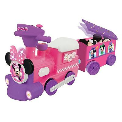 Disney Minnie Mouse Activity Choo Pink Motorized Train Trailer Ride On Toy Gift