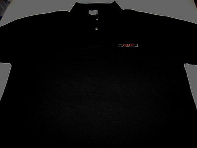 General Nutrition Centers  GNC - Embroidered Black Golf Polo Shirt New! Adult XL