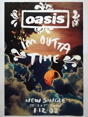 Oasis - I'm Outta Time Original Promo Poster
