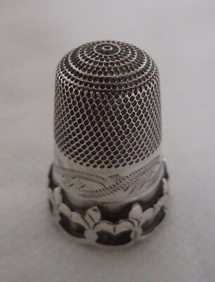 ANTIQUE VICTORIAN c1900 SOLID / STERLING SILVER THIMBLE