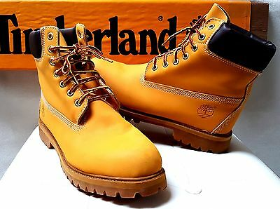 "Scarpe Timberland Boot 6"" Vintage Nuove 12-Us 46-It Made In Usa Anni 80 Paninaro"