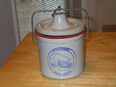 Wisconsin Homestead Cheese Crock with Lid #dw3