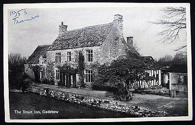 Old Postcard - The Trout Inn, Godstow, Oxfordshire