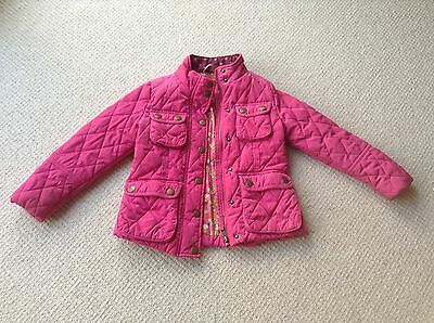 perfect Next girls quilted dark pink jacket coat  size 5-6 years