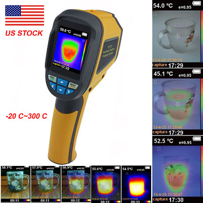 HT-02 Handheld Thermal Imaging Camera -20℃~300℃ IR Infrared Thermometer Image US
