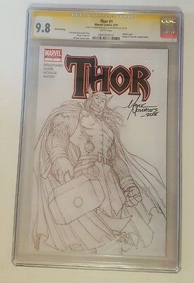 THOR #1 CGC SS 9.8 3rd Print Michael Turner Sketch Variant RARE 2007 signed