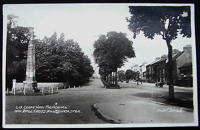 Old Real Photo Postcard - War Memorial And Hall Cross Hill, Doncaster, Yorkshire