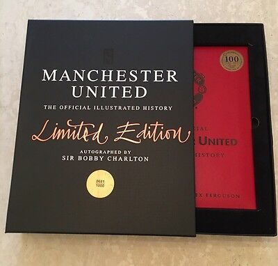 Signed Bobby Charlton Manchester United The Official Illustrated History