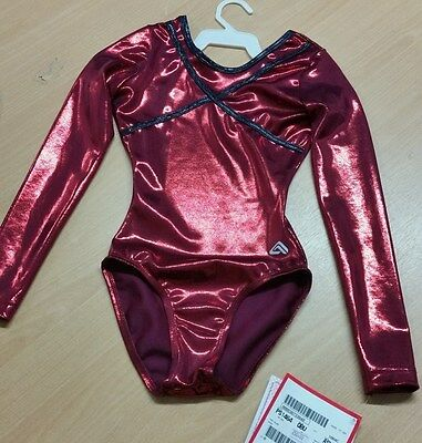 """Alpha Factor Red Competition Leotard ASM 32/34"""" Chest Stunning"""