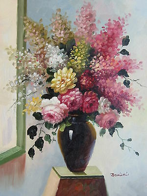 """Pozzuoli Floral Original Hand Painted 12""""x16"""" Oil Painting Canvas Art"""